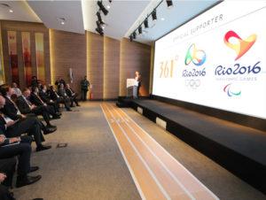 Produção de evento para anúncio da marca 361 como apoiador oficial dos Jogos Olímpicos Rio 2016