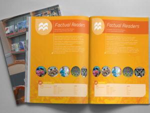 Diagramação de catálogo para Editora Macmillan