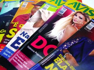 Desenvolvimento de projeto gráfico, editorial e produção mensal de revista para Avista