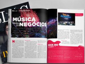 Desenvolvimento de projeto gráfico, editorial e produção da revista Slac